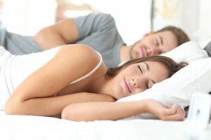 A sleeping couple.