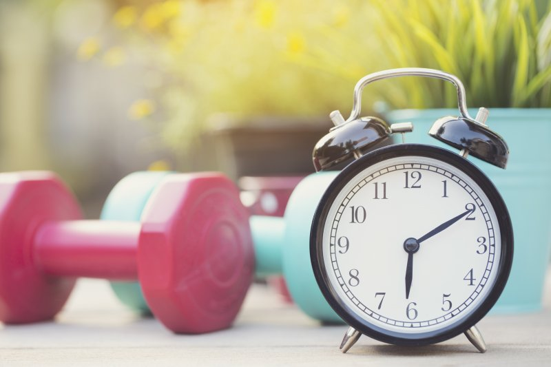 Weights and Alarm Clock