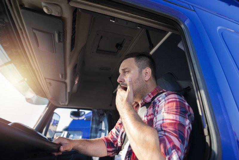 young truck driver suffering from sleep apnea in lutz