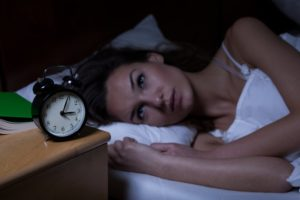 woman suffering from sleep deprivation in Lutz